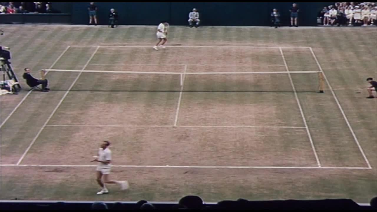 Roy Emerson wins first Wimbledon title in 1964