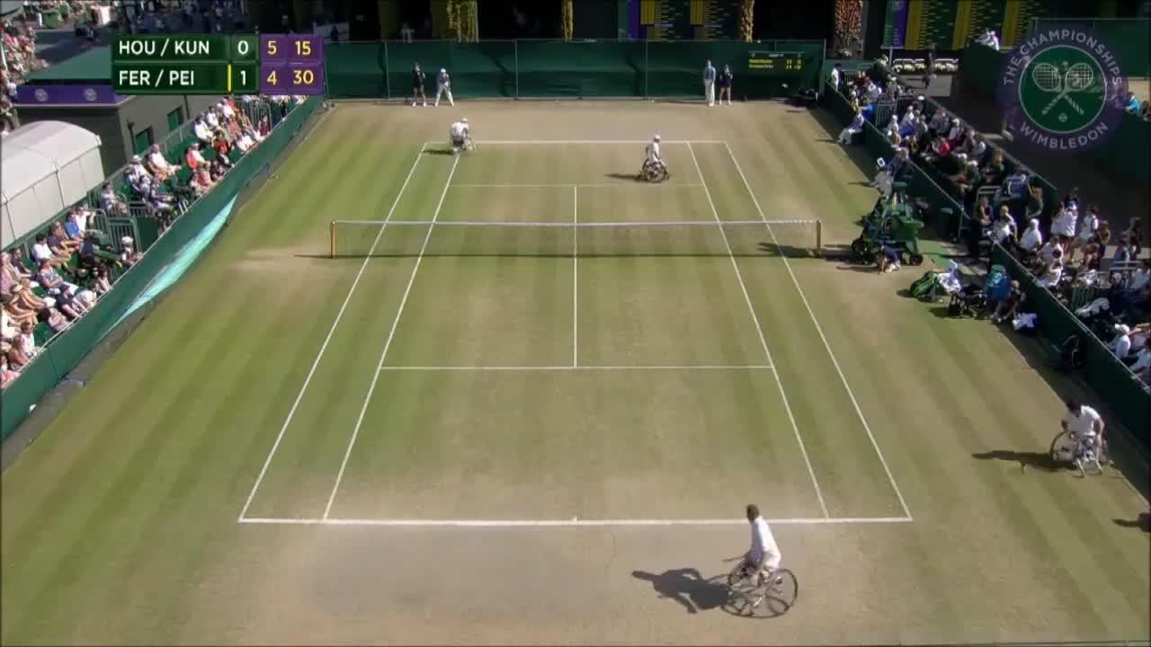 Wimbledon's Christmas Countdown: Day 7, Fernandez/Peifer v Houdet/Kunieda