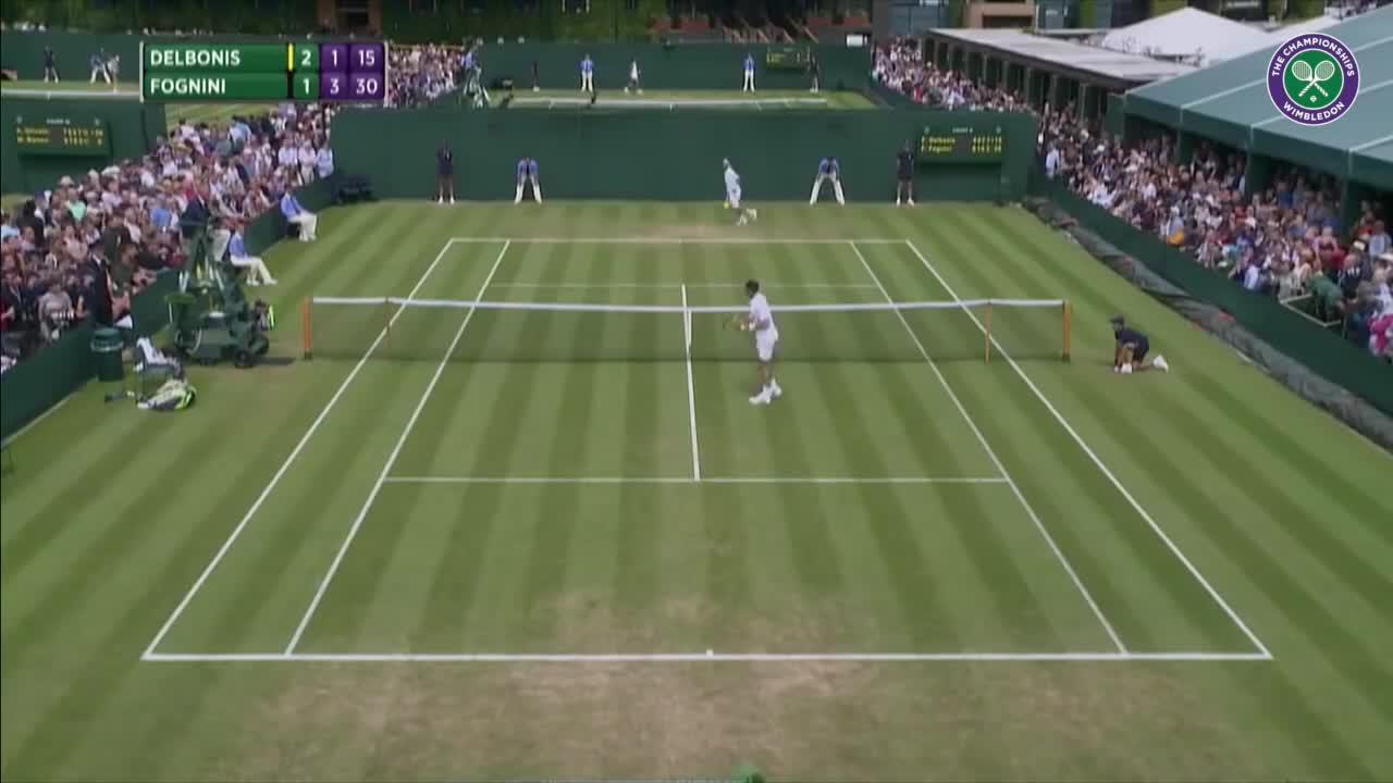 Wimbledon's Christmas Countdown: Day 14, Fognini v Delbonis