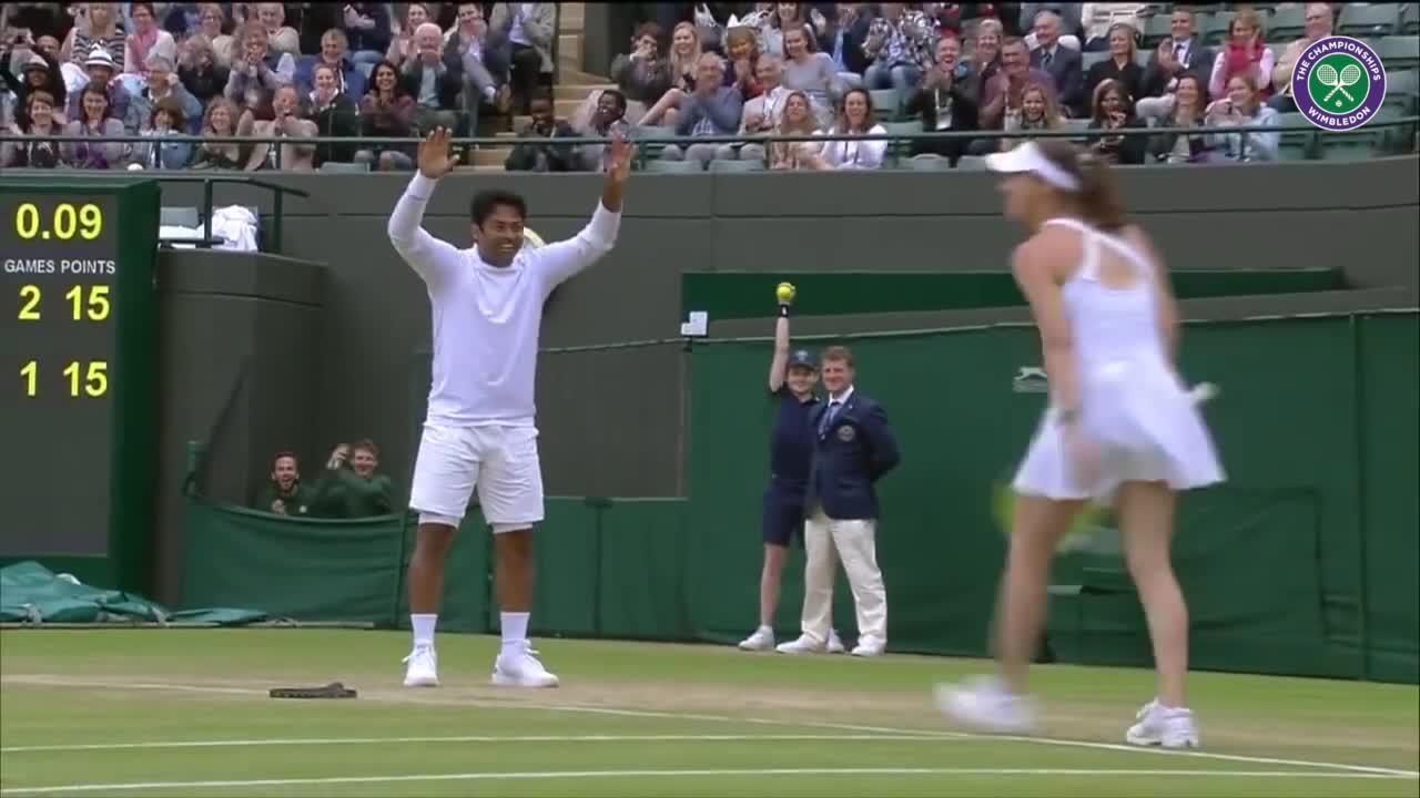 Wimbledon's Christmas Countdown: Day 19, Hingis/Paes v Sitak/Siegemund