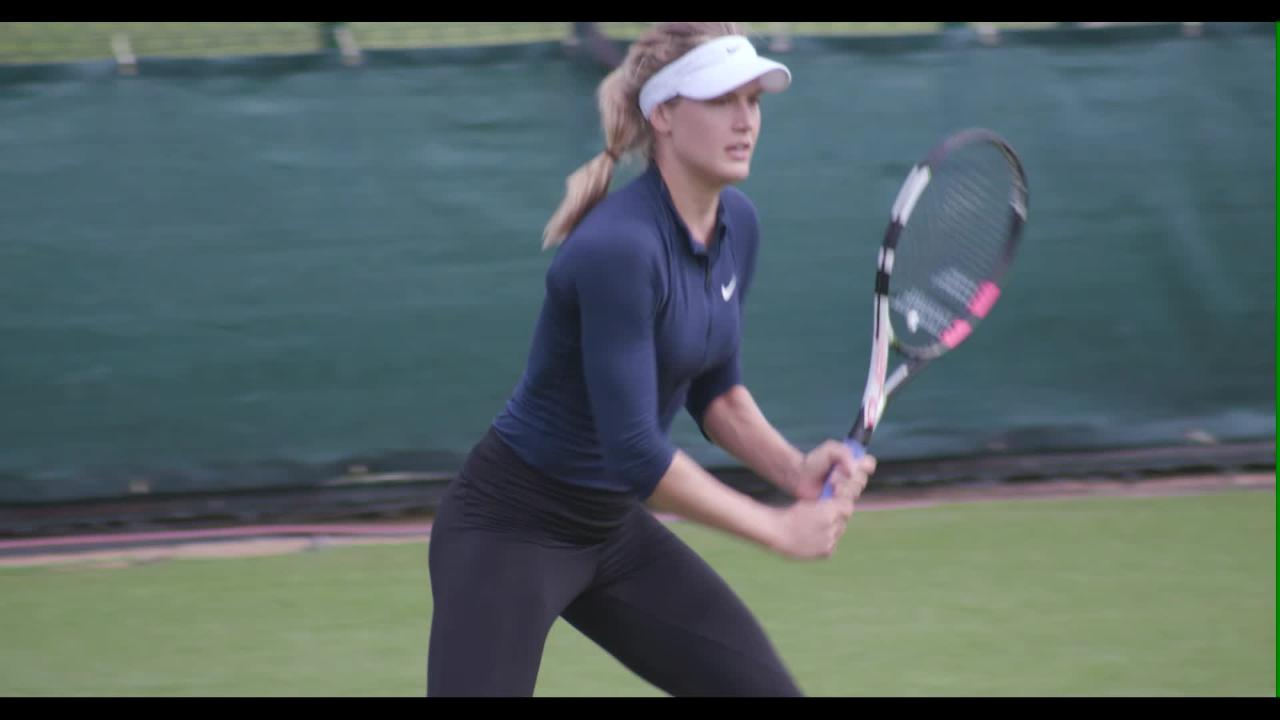 Bouchard back on Wimbledon grass
