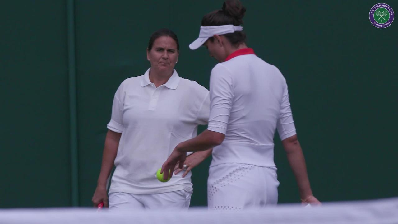 Muguruza trains with Conchita Martinez