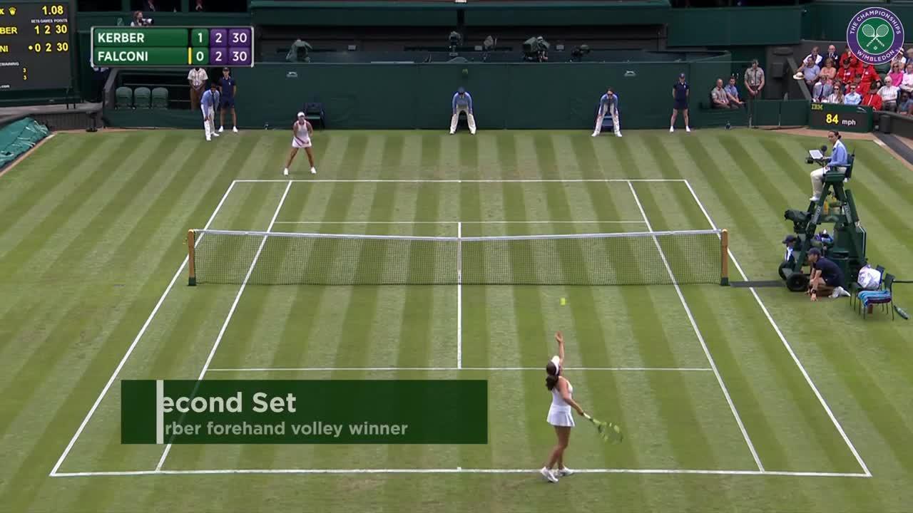 2017, First Round Highlights, Angelique Kerber vs Irina Falconi