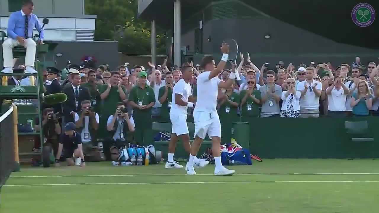 Marcus Willis & Jay Clarke celebrate epic doubles win