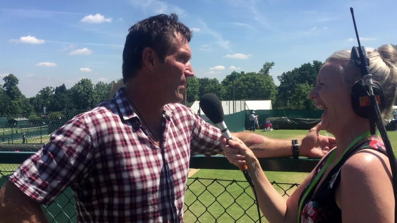 Pat Cash relives 1987 Wimbledon glory