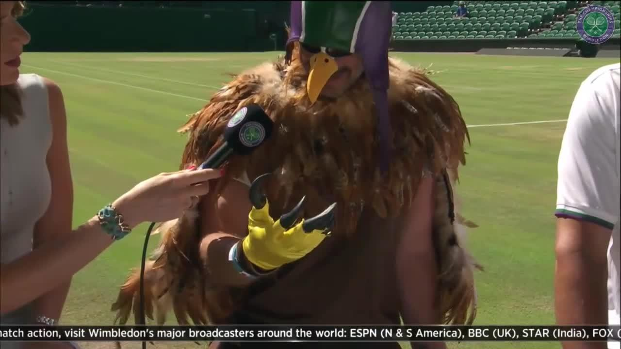 Fan comes dressed as Rufus The Hawk