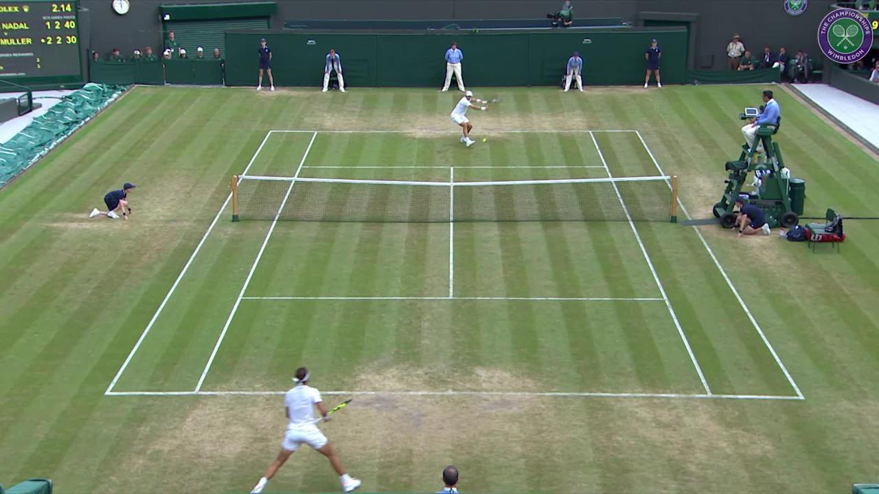 Nadal v Muller: The best shots