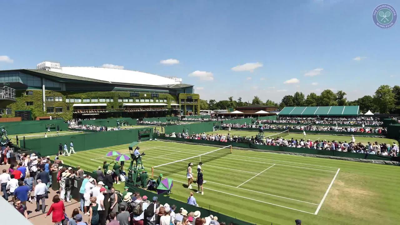 Dawn to dusk: Stunning Wimbledon timelapse