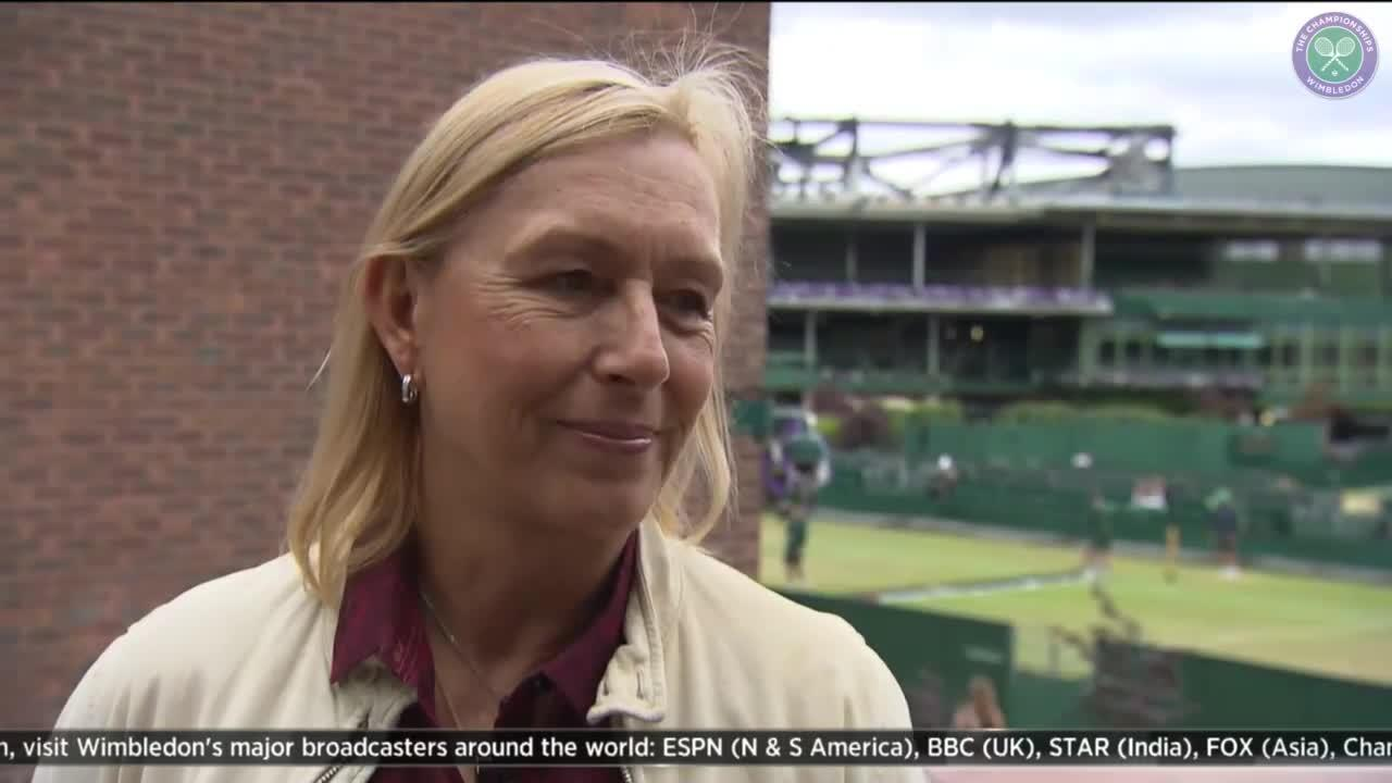 Navratilova talks to The Wimbledon Channel