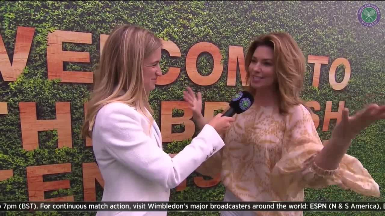 Shania Twain talks tennis and Milos Raonic