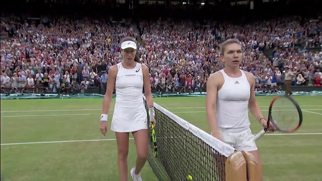 Konta's moment of victory over Halep