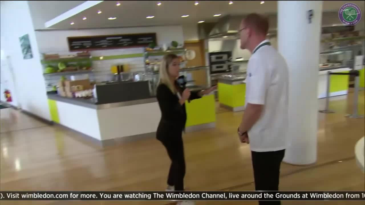 The Wimbledon Channel: Behind the scenes in the players' restaurant