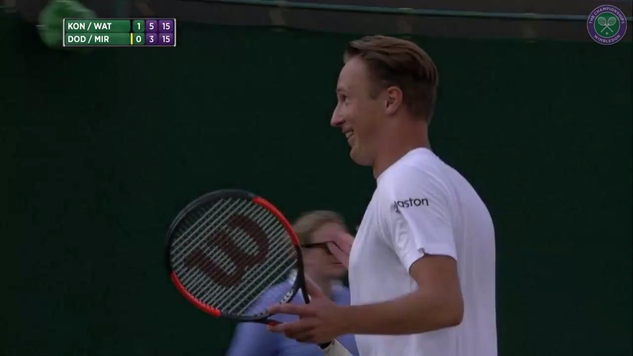 Incredible Kontinen shot in mixed doubles
