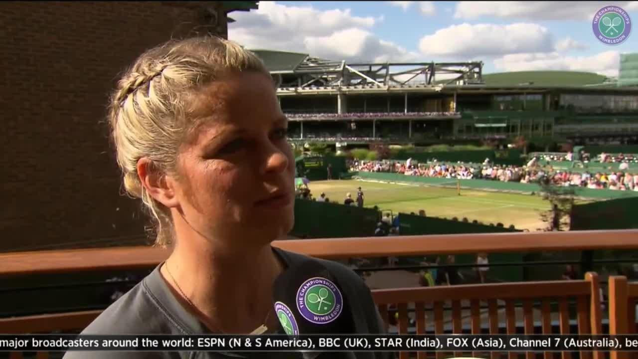 Kim Clijsters looks ahead to the ladies' semi-finals