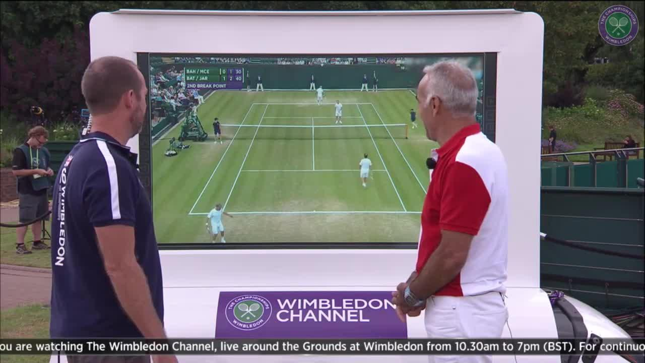 Bahrami shares his secrets on Wimbledon Channel