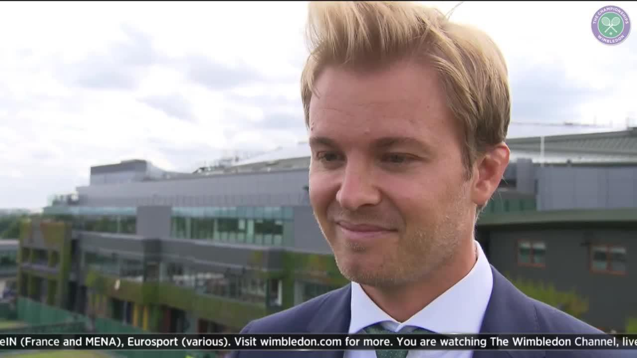 Nico Rosberg hoping to bring luck to Federer