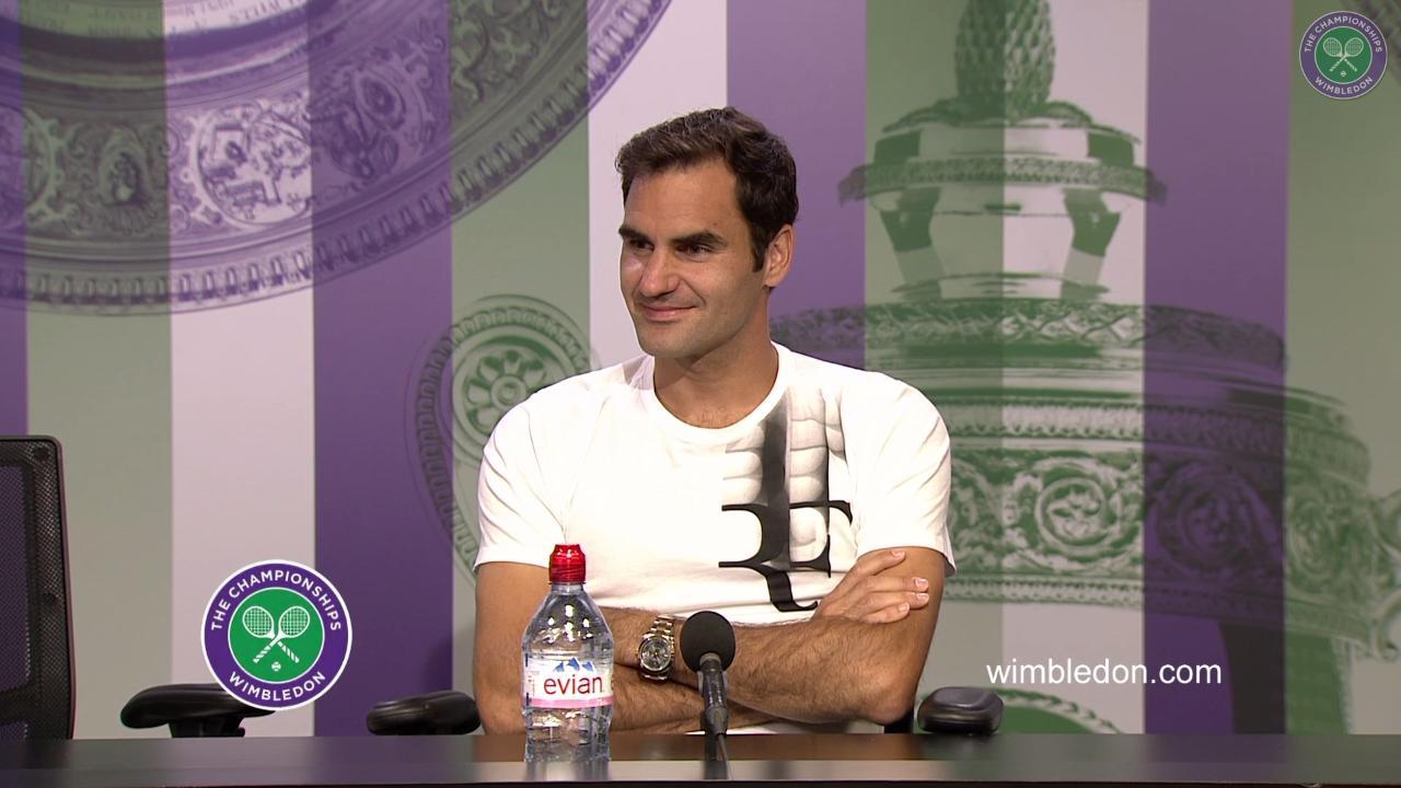 Roger Federer Semi- Final Press Conference 2017