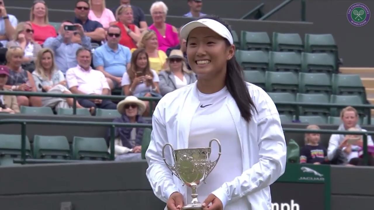 Liu wins girls' singles title