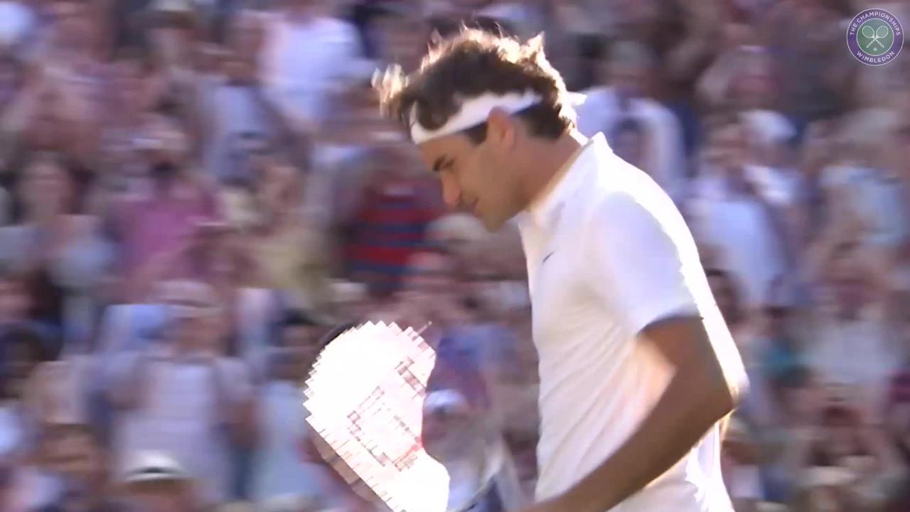 Reliving Federer's eight Wimbledon titles