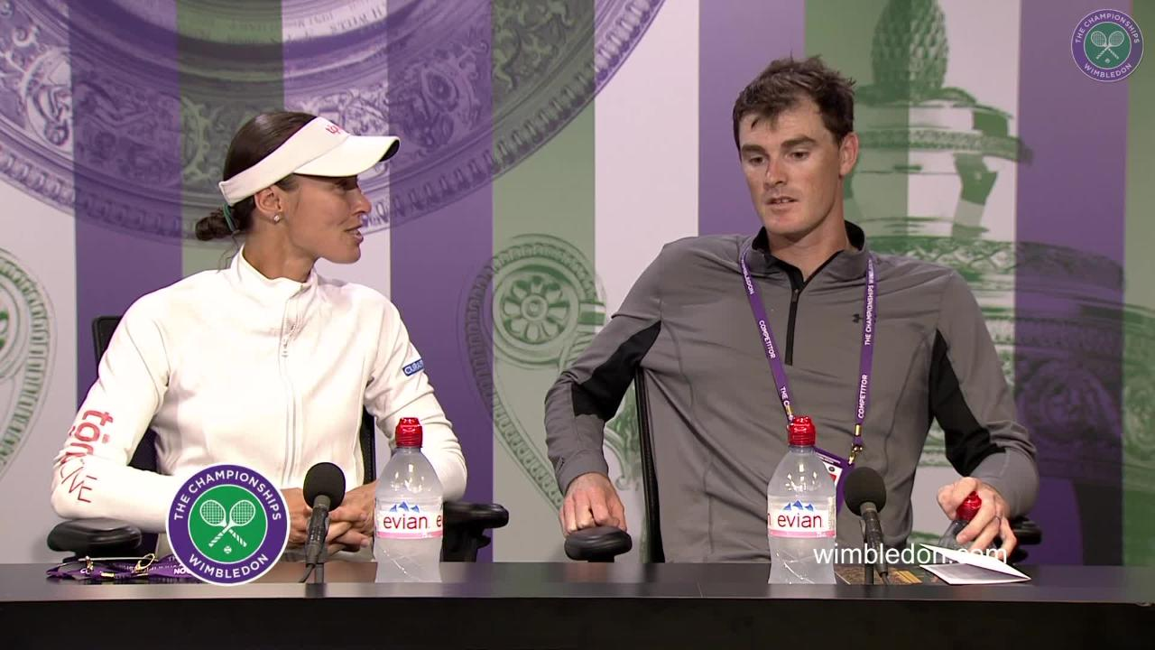 Jamie Murray and Martina Hingis Final Press Conference 2017