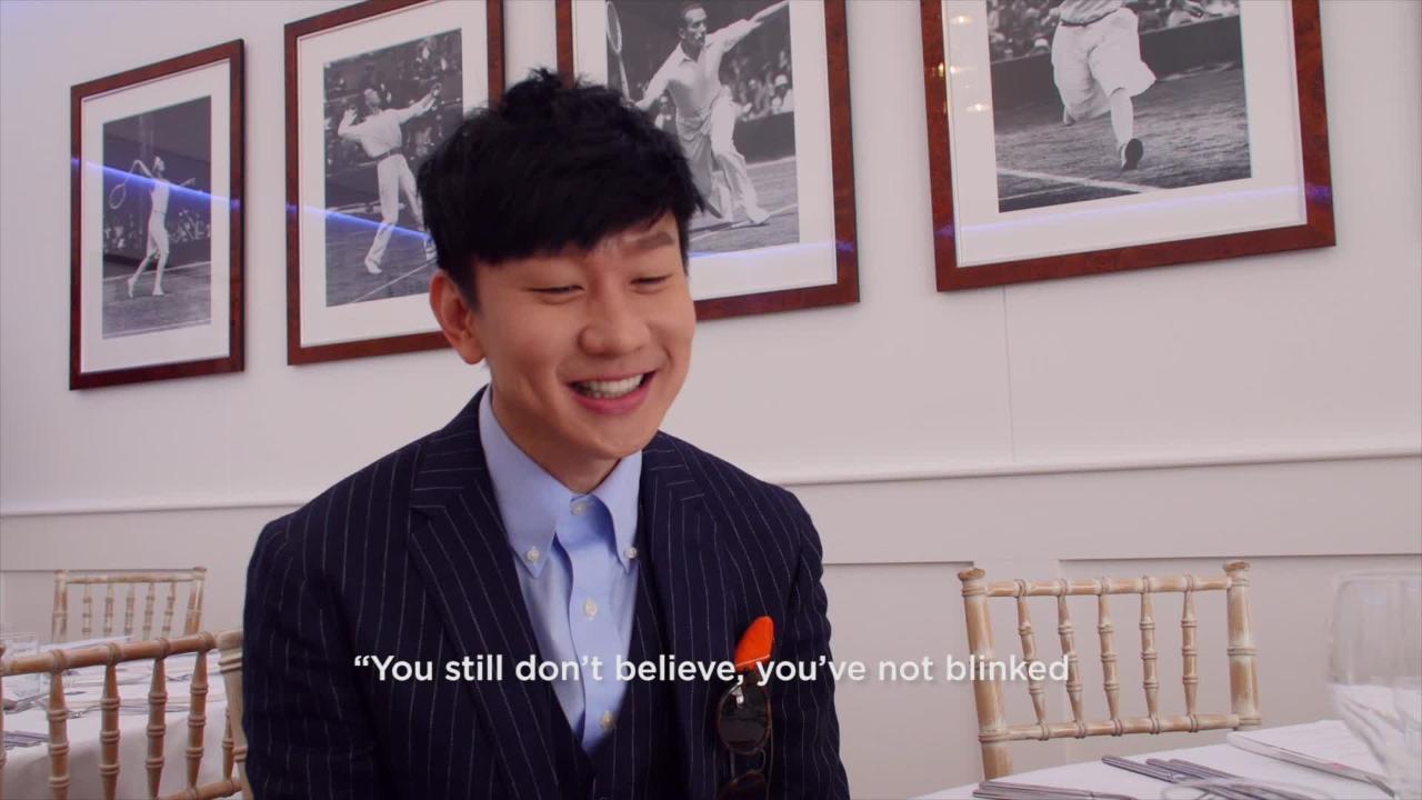 Singer JJ Lin visits Wimbledon