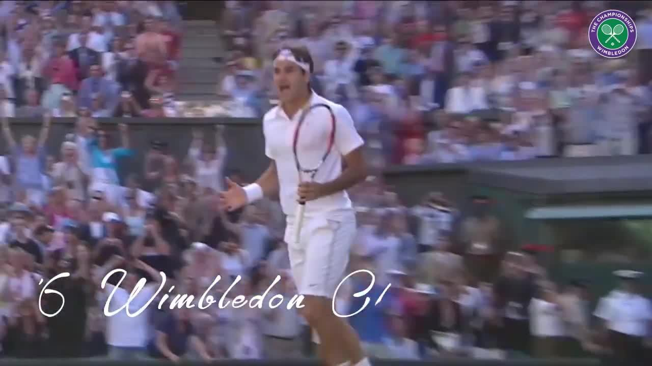 Roger Federer: His eight Wimbledon titles relived