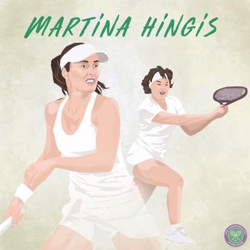 Hingis' Wimbledon highlights