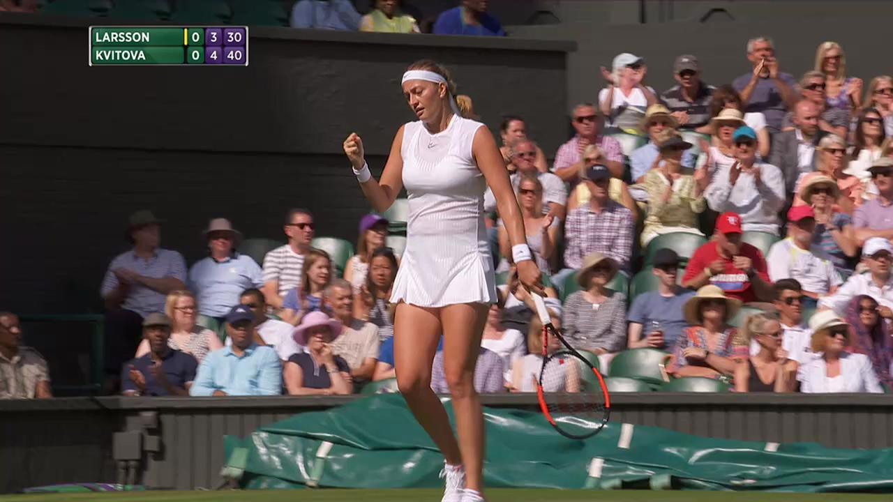 2017, First Round Highlights, Johanna Larsson vs Petra Kvitova