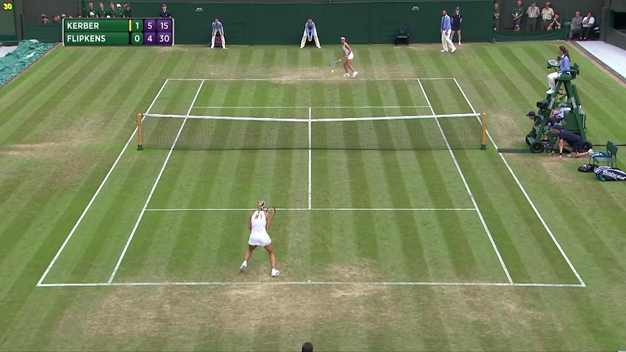 2017, Second Round Highlights, Angelique Kerber vs Kirsten Flipkens