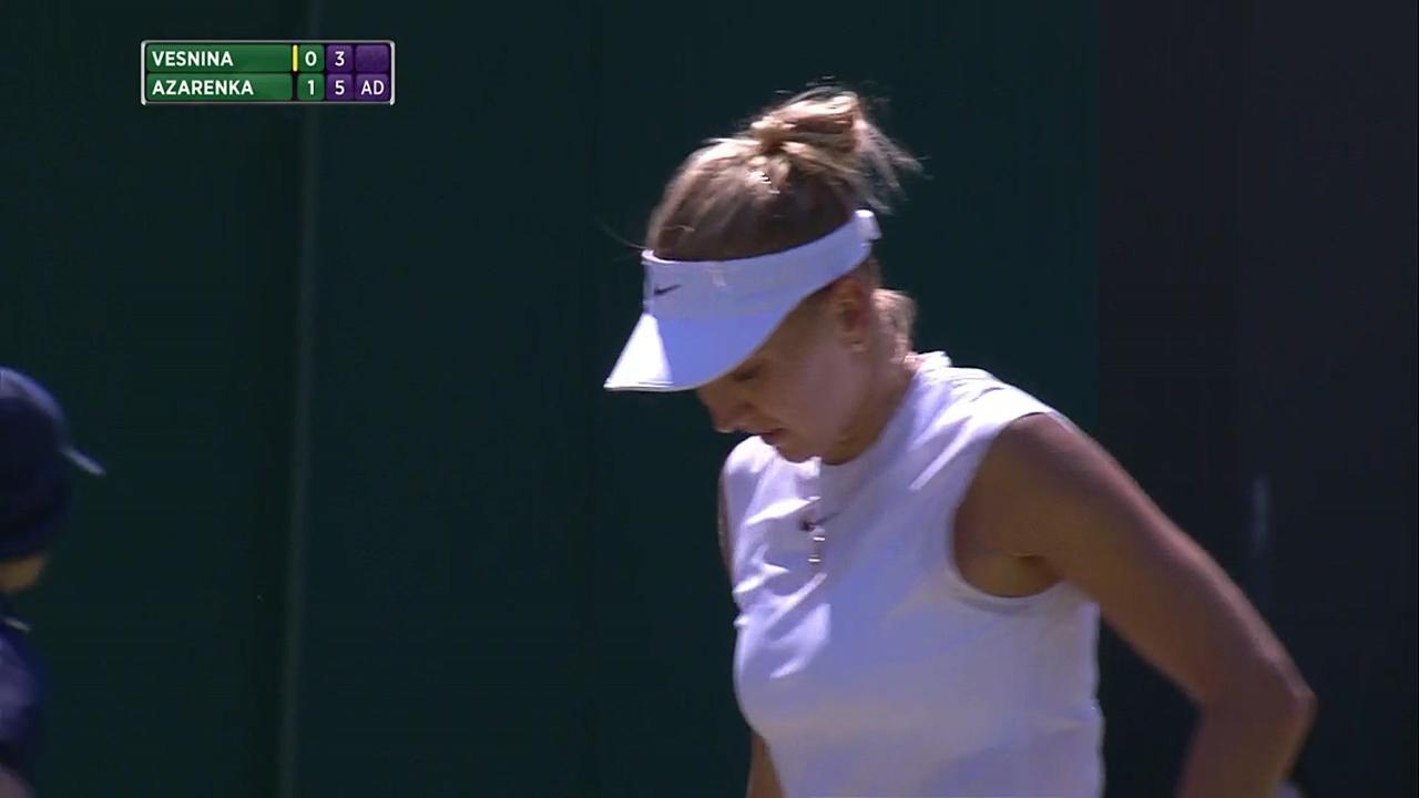 2017, Second Round Highlights, Elena Vesnina vs Victoria Azarenka