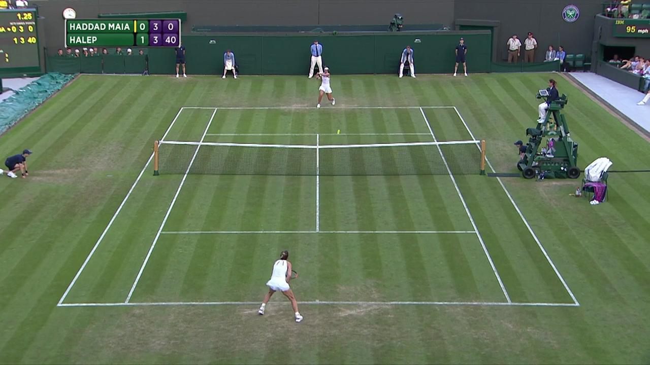 2017, Second Round Highlights, Beatriz Haddad Maia vs Simona Halep