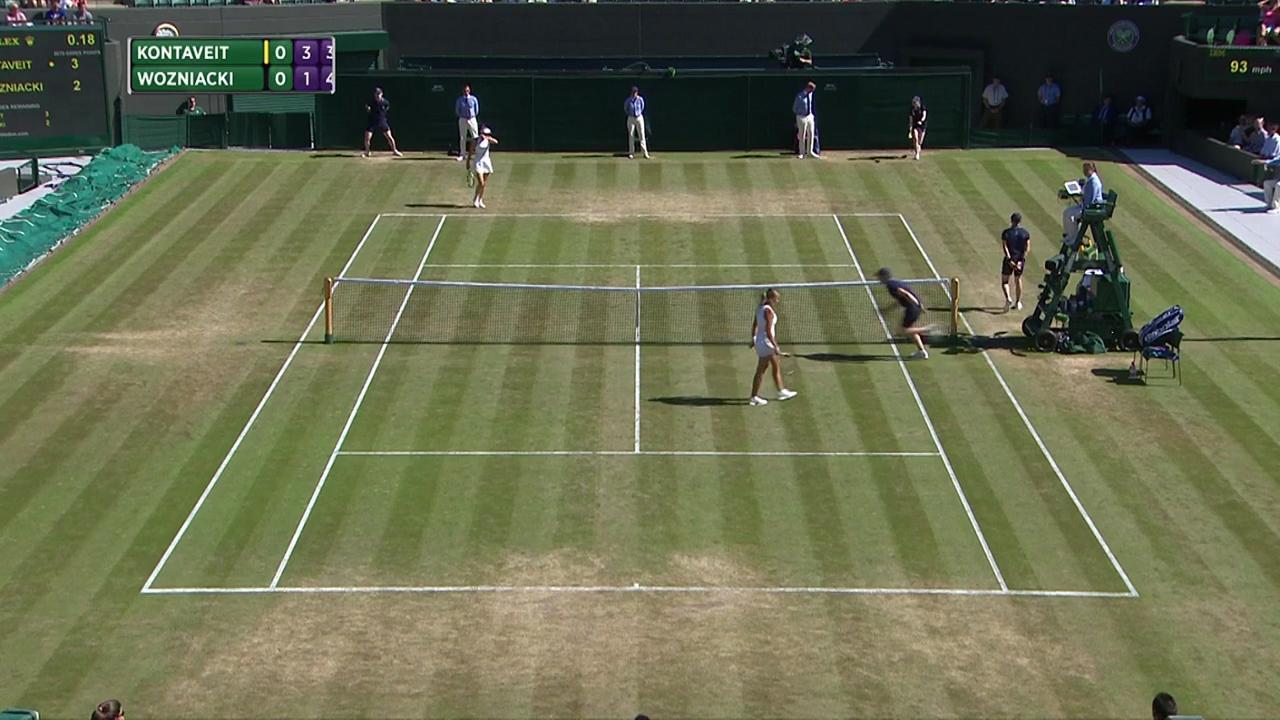 2017, Third Round Highlights, Anett Kontaveit vs Caroline Wozniacki