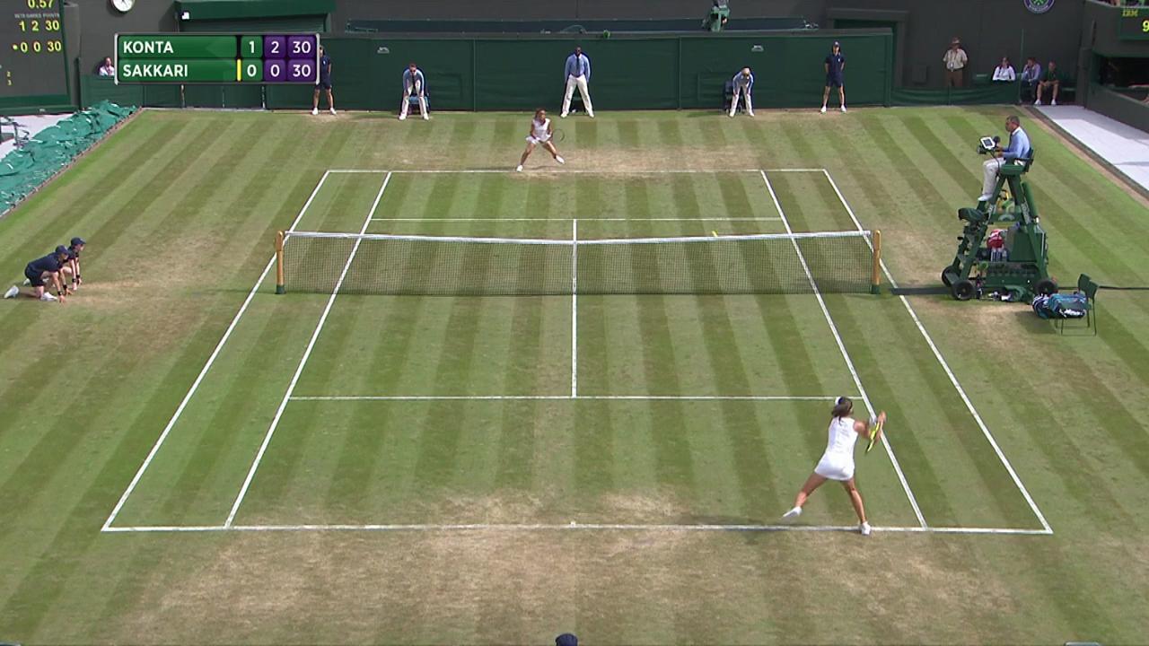 2017, Third Round Highlights, Johanna Konta vs Maria Sakkari