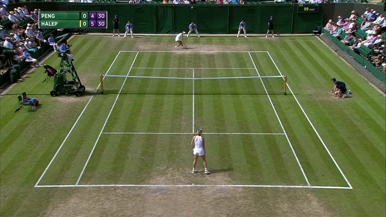 2017, Third Round Highlights, Shuai Peng vs Simona Halep