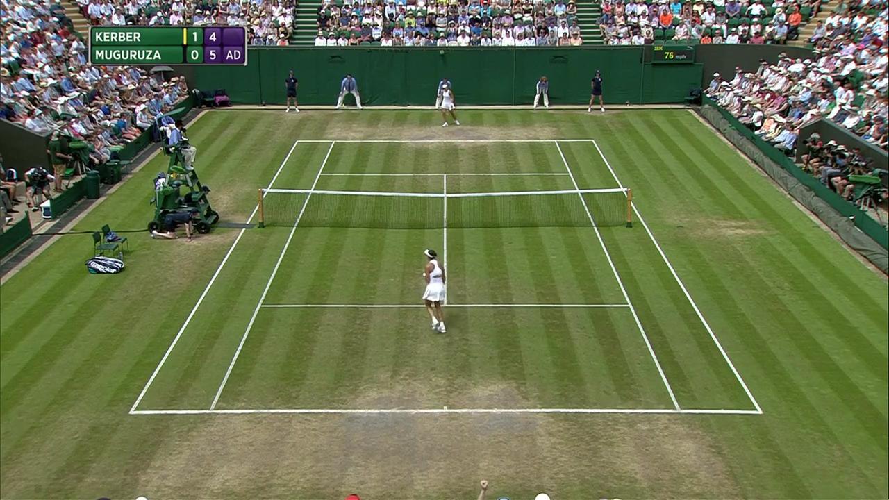 2017, Fourth Round Highlights, Angelique Kerber vs Garbine Muguruza