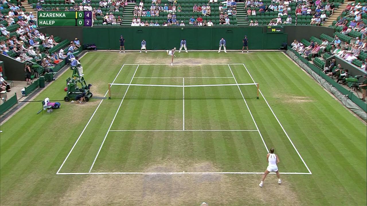 2017, Fourth Round Highlights, Victoria Azarenka vs Simona Halep