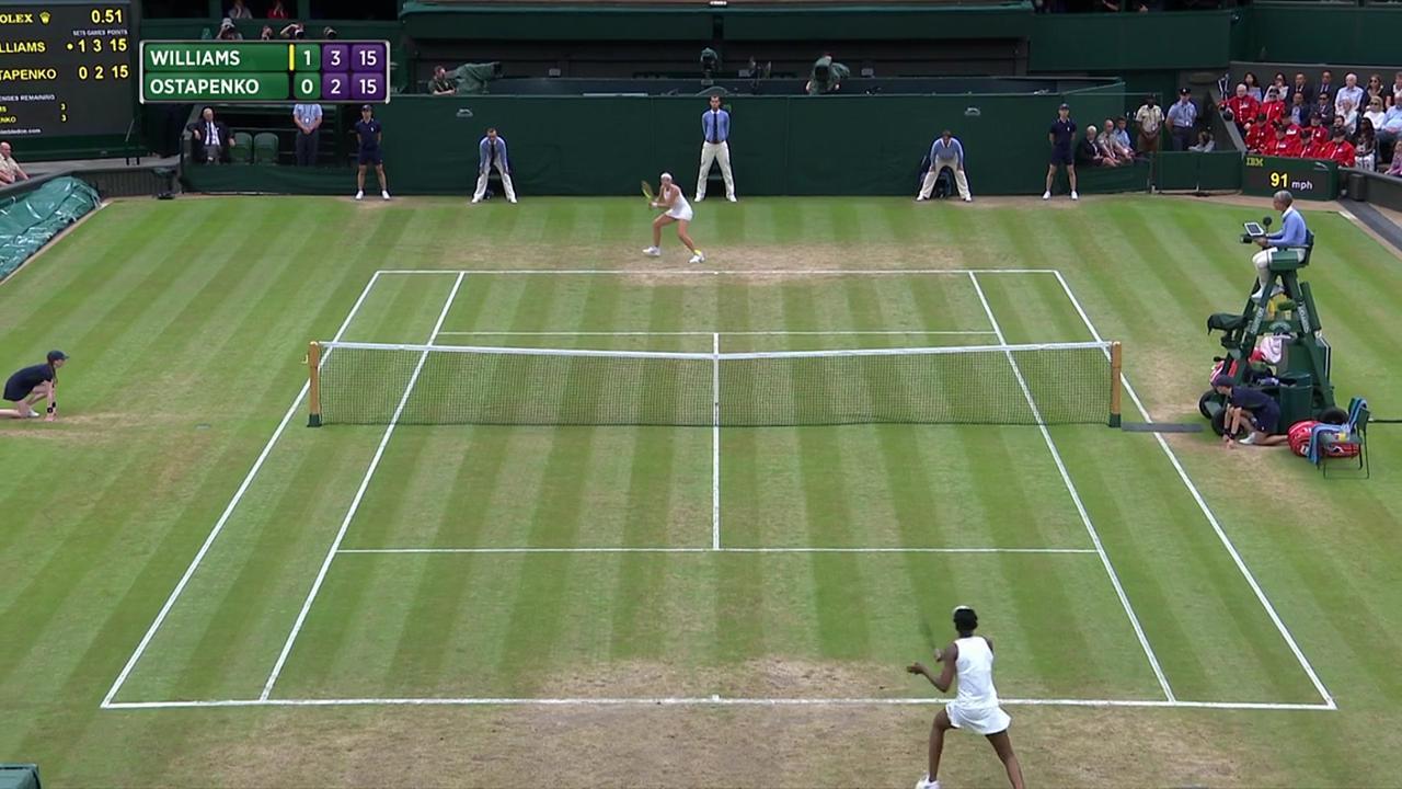 2017, QF Highlights, Venus Williams vs Jelena Ostapenko