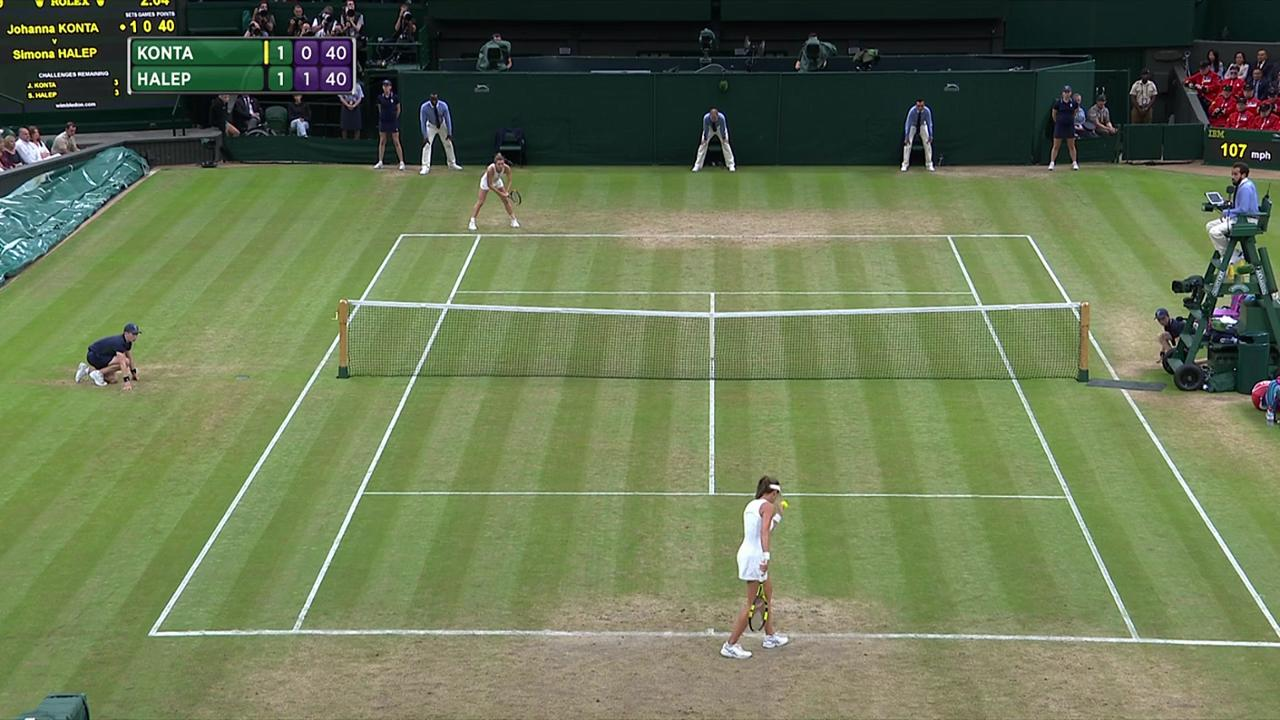 2017, QF Highlights, Johanna Konta vs Simona Halep