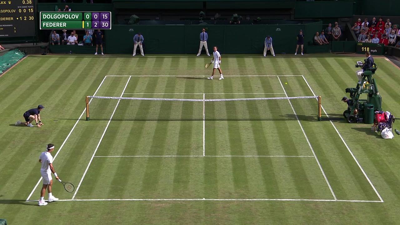 2017, First Round Highlights, Alexandr Dolgopolov vs Roger Federer