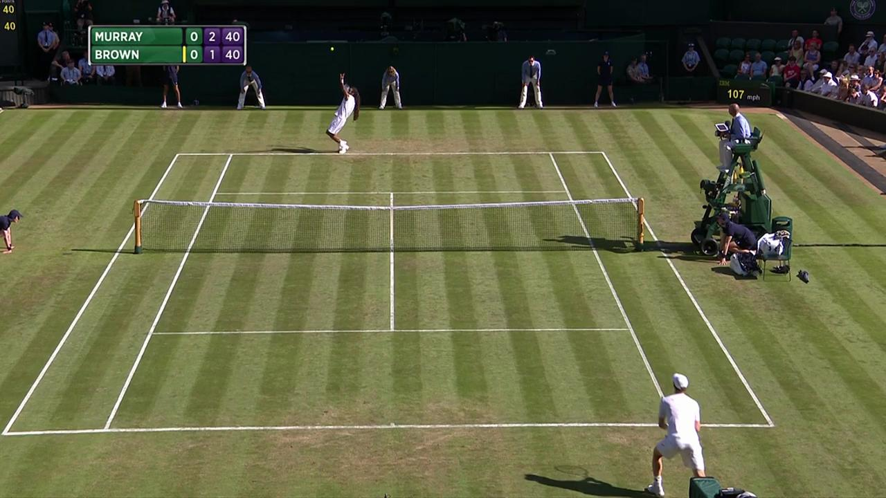 2017, Second Round Highlights, Andy Murray vs Dustin Brown