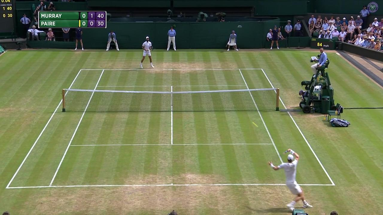 2017, Fourth Round Highlights, Andy Murray vs Benoit Paire