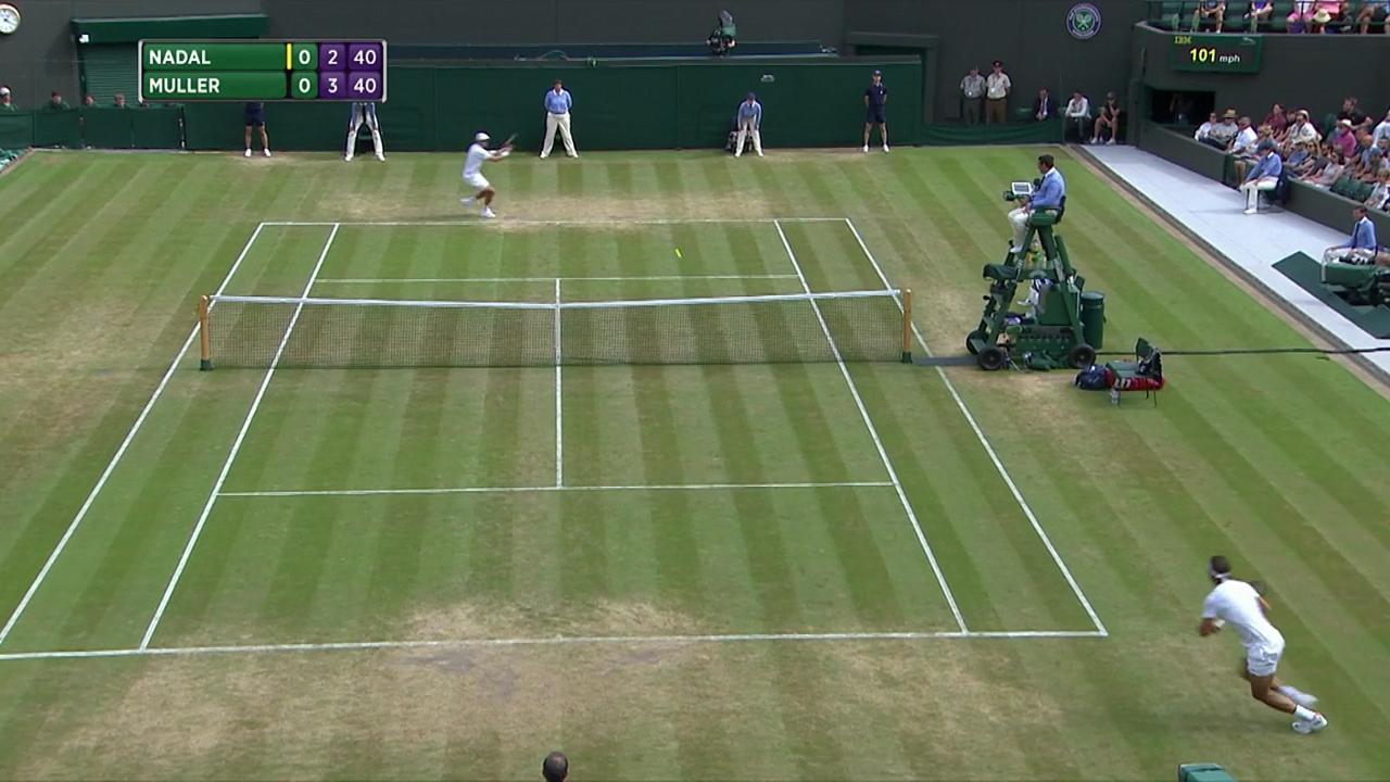 2017, Fourth Round Highlights, Rafael Nadal vs Gilles Muller