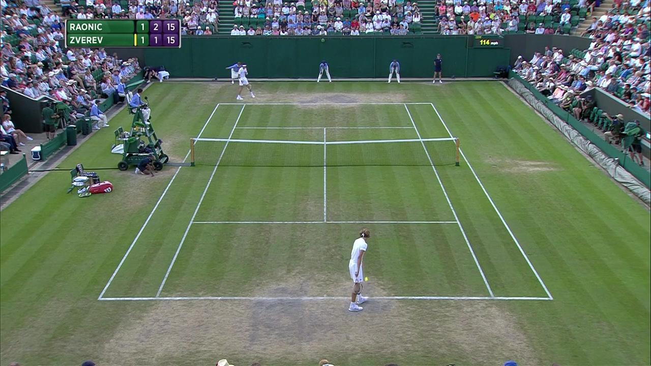 2017, Fourth Round Highlights, Milos Raonic vs Alexander Zverev