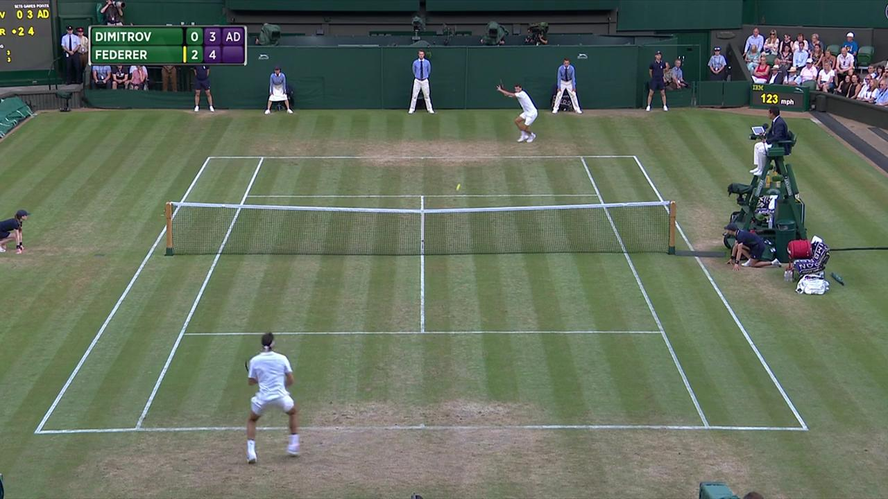 2017, Fourth Round Highlights, Grigor Dimitrov vs Roger Federer