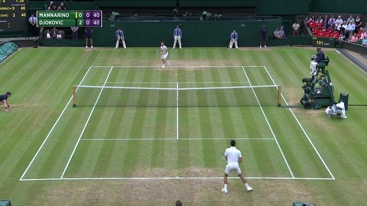 2017, Fourth Round Highlights, Adrian Mannarino vs Novak Djokovic