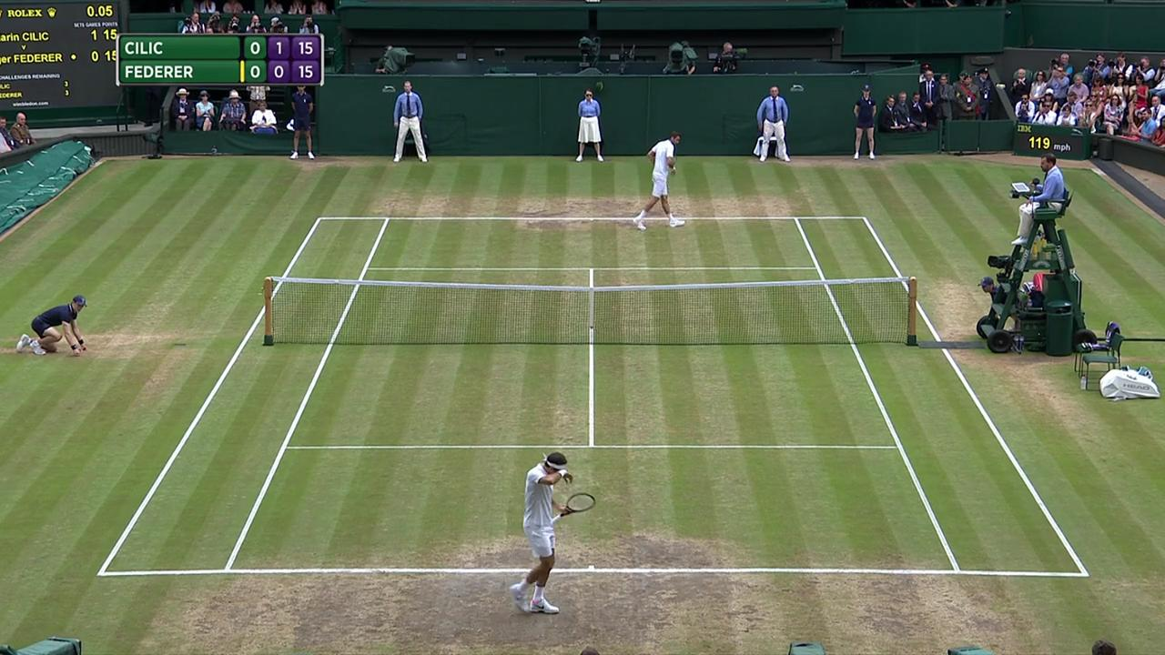 2017, Final Highlights, Marin Cilic vs Roger Federer