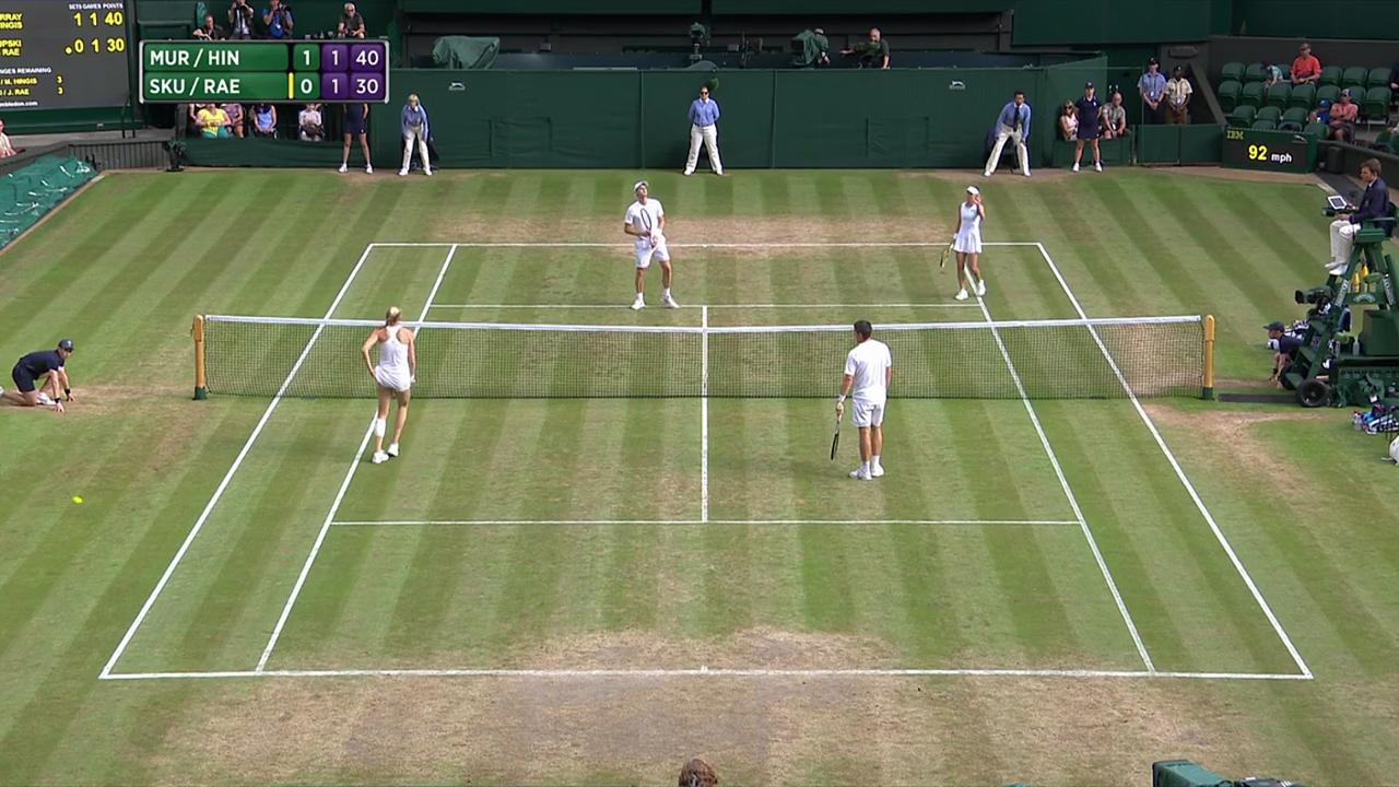 2017, QF Highlights,  Murray/Hingis vs  Skupski/Rae