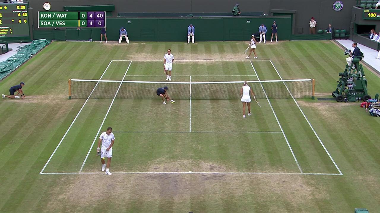2017, Semi-finals Highlights,  Kontinen/Watson vs  Soares/Vesnina